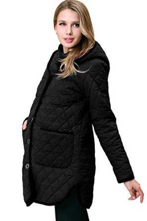 this maternity coat is stylish and cute