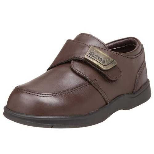 made from leather with a rubber flexible sole