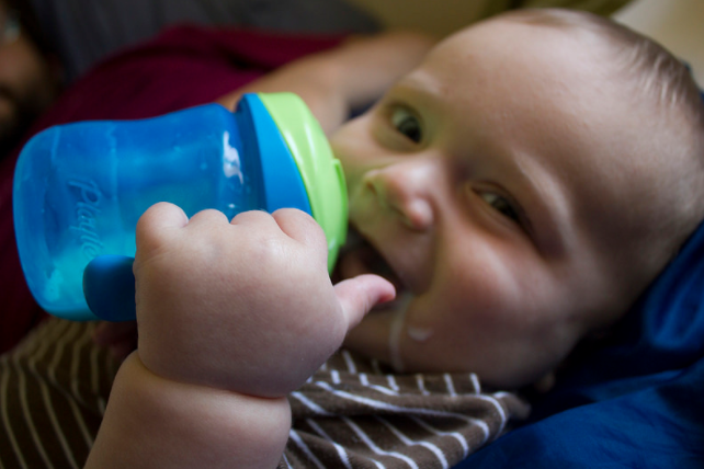 bottle to sippy cup
